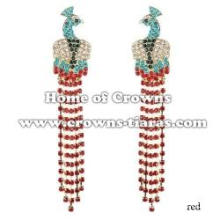 Crystal Rhinestone Peacock Earrings